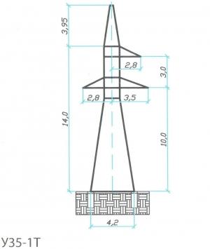 Анкерно-Угловая опора У35-1Т