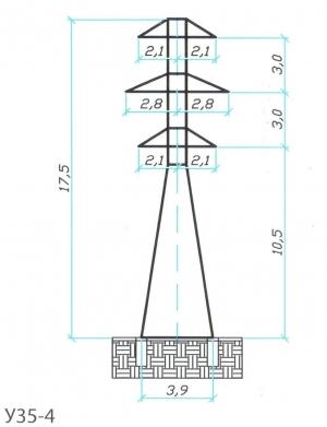 Анкерно-Угловая опора У35-4