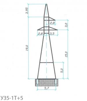 Анкерно-Угловая опора У35-1Т+5