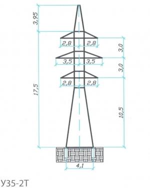 Анкерно-Угловая опора У35-2Т