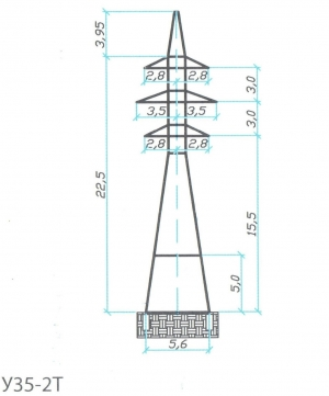 Анкерно-Угловая опора У35-2Т+5