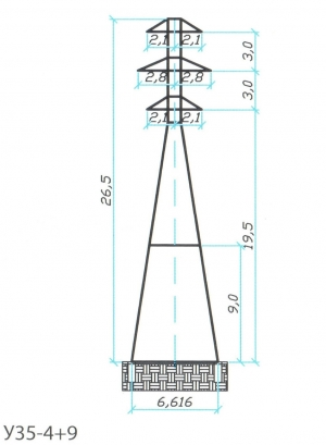 Анкерно-Угловая опора У35-4+9