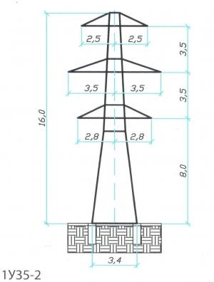 Анкерно-Угловая опора 1У35-2