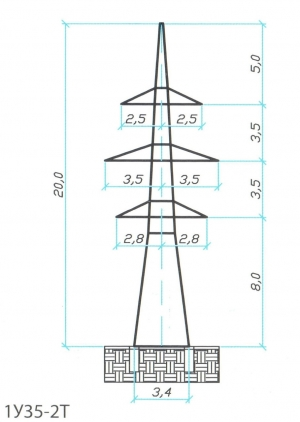 Анкерно-Угловая опора 1У35-2Т