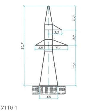 Анкерно-Угловая опора У110-1