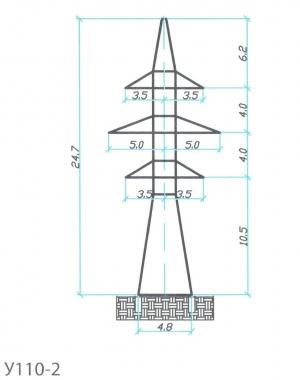 Анкерно-Угловая опора У110-2