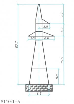 Анкерно-Угловая опора У110-1+5