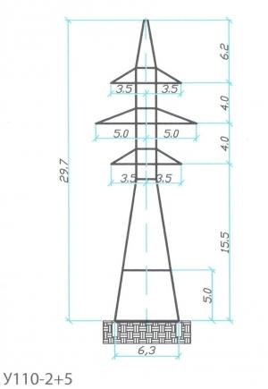 Анкерно-Угловая опора У110-2+5